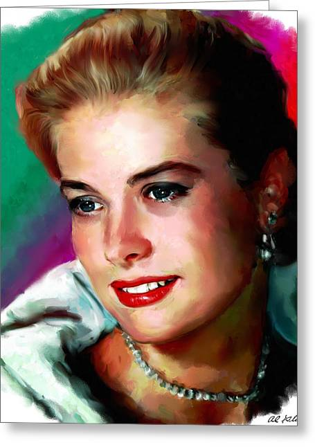 Allen Glass Greeting Cards - Grace Kelly Greeting Card by Allen Glass
