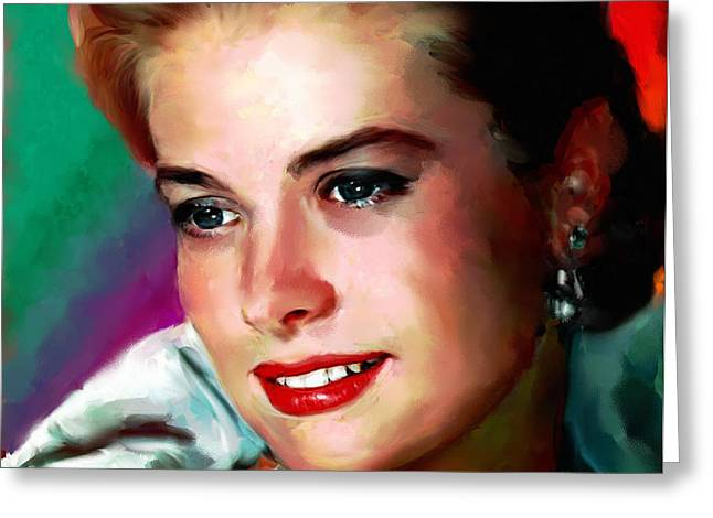 Grace Kelly Greeting Card by Allen Glass