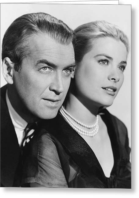 Publicity Shot Photographs Greeting Cards - Grace Kelly and James Stewart Greeting Card by Nomad Art And  Design