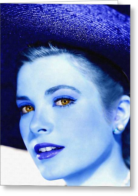 Kelly Greeting Cards - Grace Kelly Greeting Card by Art Cinema Gallery