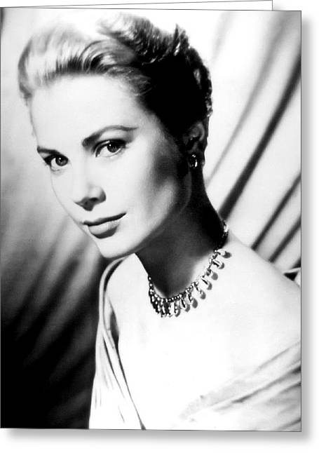 Academy Awards Oscars Greeting Cards - Grace Kelly Greeting Card by Daniel Hagerman