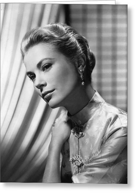 Princess Grace Greeting Cards - Grace Kelly Glamour Photo Greeting Card by Nomad Art And  Design