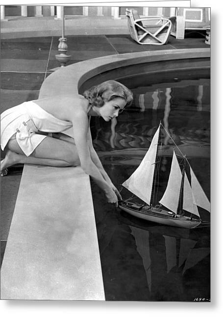 1950s Movies Photographs Greeting Cards - Grace Kelly in High Society Greeting Card by Nomad Art And  Design