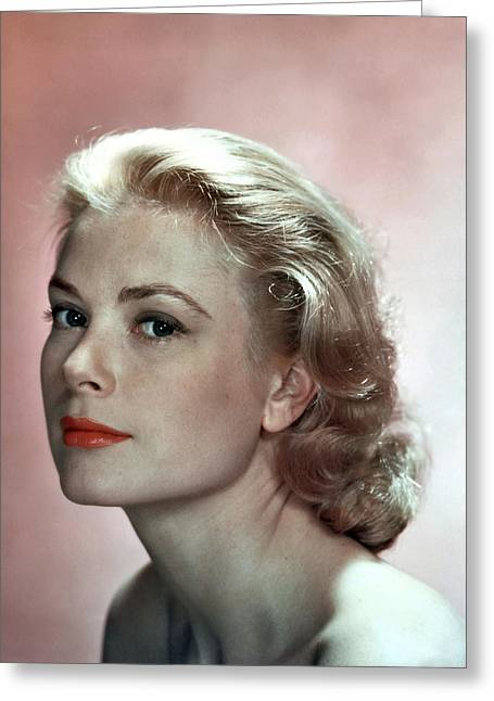 Classic Hollywood Photographs Greeting Cards - Grace Kelly Photo Greeting Card by Nomad Art And  Design