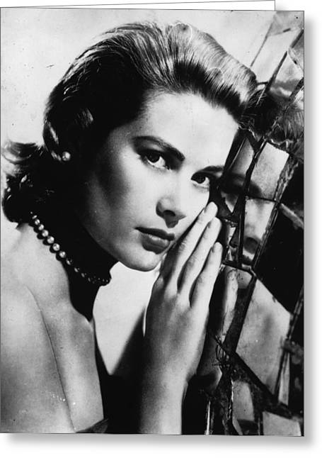 High Society Photographs Greeting Cards - Grace Kelly Portrait Greeting Card by Nomad Art And  Design