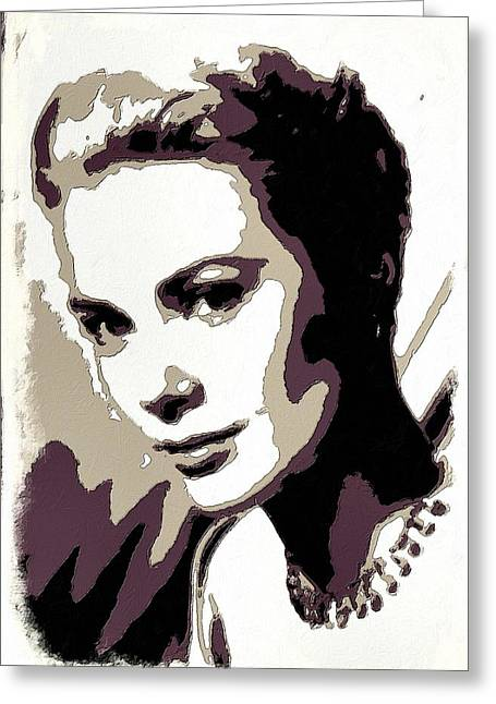 Grace Kelly Poster Art Greeting Card by Florian Rodarte