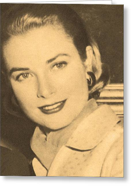 Grace Kelly Princess Greeting Card by Douglas Settle