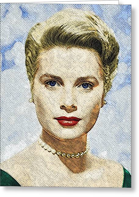 Princess Grace Greeting Cards - Grace Kelly Greeting Card by Taylan Soyturk