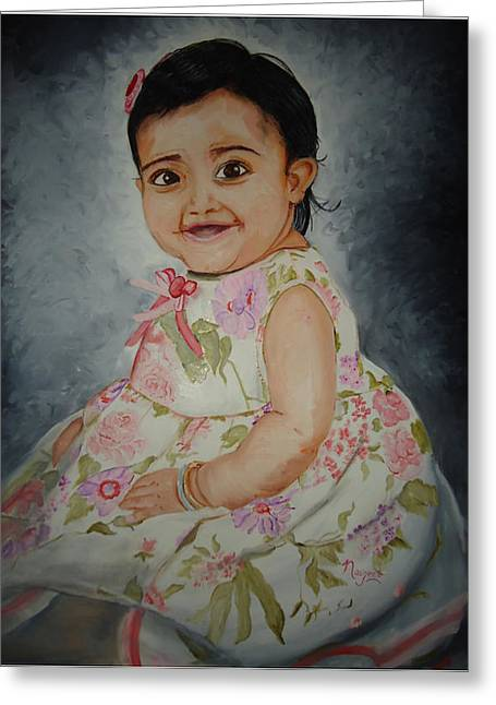 Navjeet Gill Greeting Cards - Grace Greeting Card by Navjeet Gill