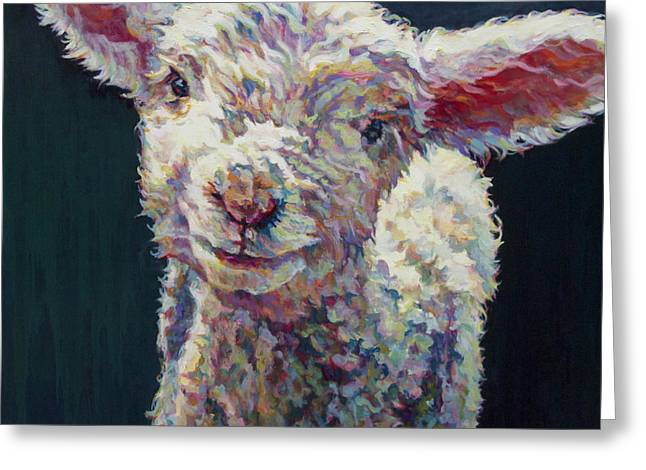 Sheep Greeting Cards - Grace Greeting Card by Patricia A Griffin