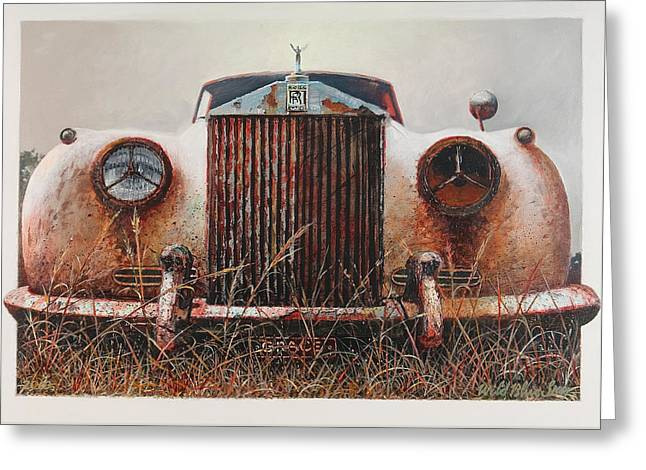 Blue Sky Greeting Cards - Grace - Rolls Royce Greeting Card by Blue Sky