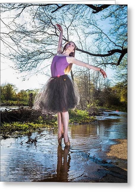 Ballet Dancers Photographs Greeting Cards - Grace Greeting Card by Ryan Crane