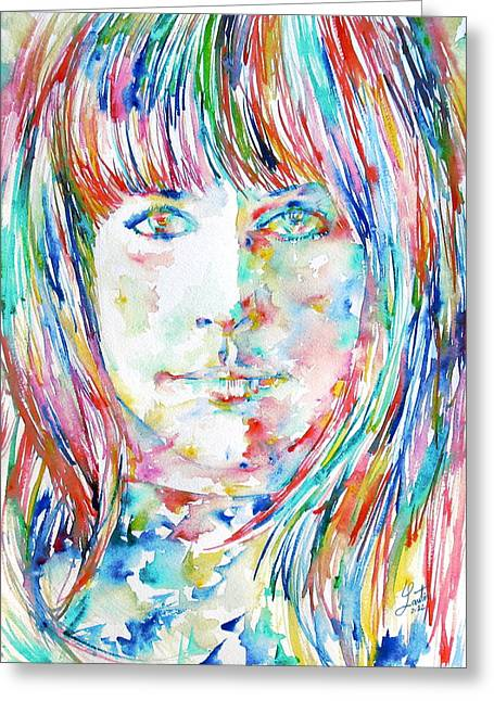 Starship Paintings Greeting Cards - Grace Slick Greeting Card by Fabrizio Cassetta