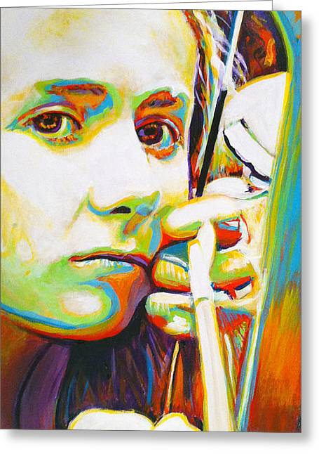 Archery Paintings Greeting Cards - Grace Greeting Card by Steve Gamba