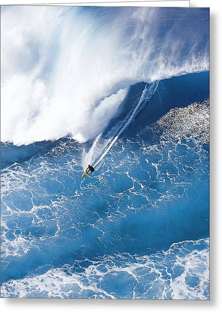 Surfing Art Greeting Cards - Grace Under Pressure Greeting Card by Sean Davey