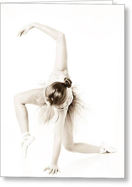 Sexy Shoes Greeting Cards - Graceful Ballet Dancer  Greeting Card by Jt PhotoDesign