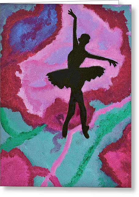 Dance Ballet Roses Greeting Cards - Graceful Beauty Greeting Card by Margaret Harmon