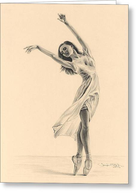 Graceful Dancer Greeting Card by Tonya Butcher