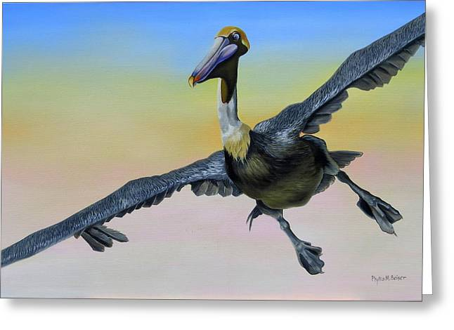 Graceful Landing Greeting Card by Phyllis Beiser