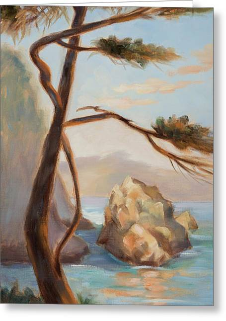 Graceful Pine In Afternoon Light At Point Lobos Greeting Card by Karin  Leonard