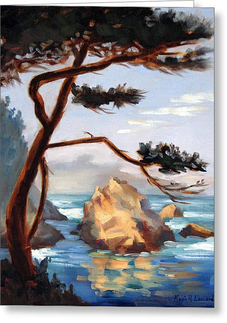 Graceful Pine Pt. Lobos Greeting Card by Karin  Leonard