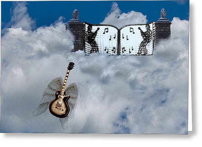 Rock And Roll Heaven Greeting Cards - Graceland Greeting Card by Bill Cannon