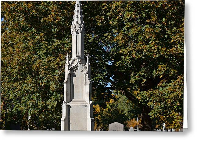 Graceland Cemetery - Garden of the dead Greeting Card by Christine Till