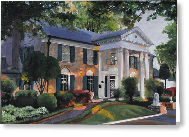 Kinkade Greeting Cards - Graceland Home of Elvis Greeting Card by Cecilia  Brendel
