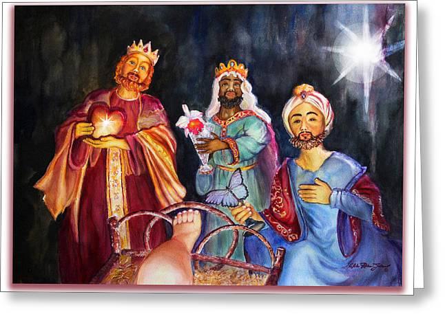 Star Of Bethlehem Greeting Cards - Gracias Merci Thanks Greeting Card by Estela Robles