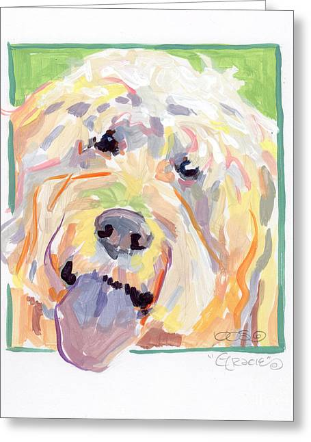 Pants Greeting Cards - Gracie Greeting Card by Kimberly Santini