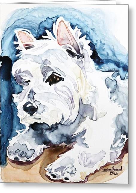 West Highland Terriers Greeting Cards - Gracie Greeting Card by Shaina Stinard
