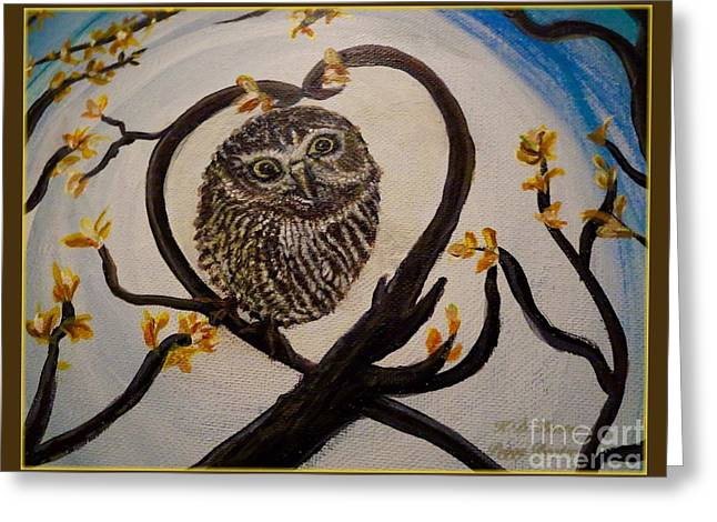 The Nature Center Paintings Greeting Cards - Graciela Finds Her Heart Song I  Greeting Card by Kimberlee  Baxter