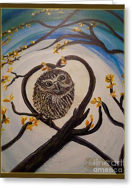 The Nature Center Paintings Greeting Cards - Graciela Finds Her Heartsong Closeup II Greeting Card by Kimberlee  Baxter