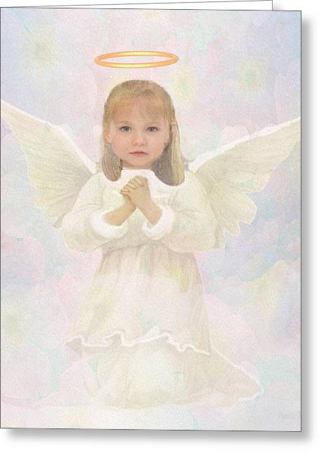 Childre Greeting Cards - Gracious Prayer Greeting Card by Amelia Carrie