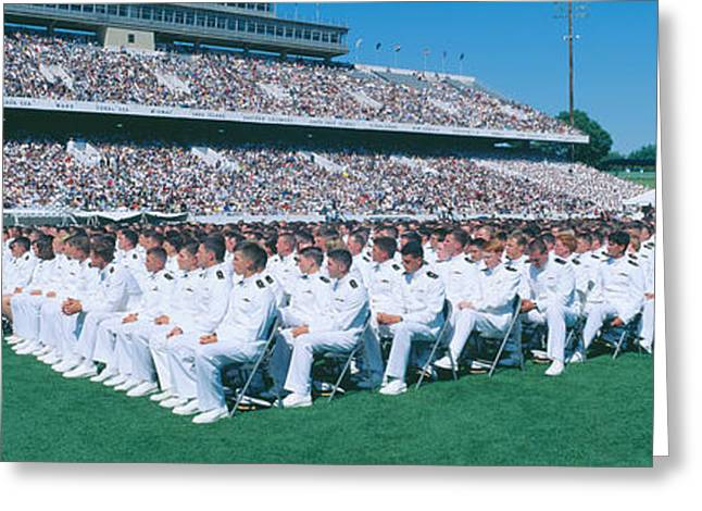 Organization Greeting Cards - Graduation At Naval Academy, Annapolis Greeting Card by Panoramic Images