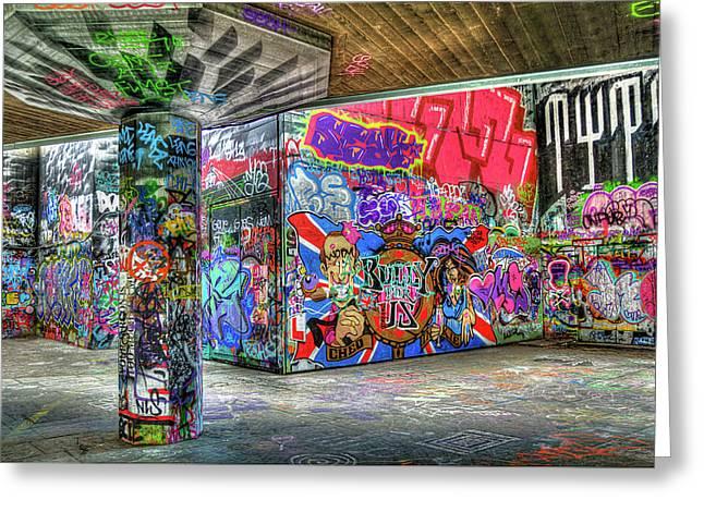 Graffiti Drawings Greeting Cards - Graffiti 01 Greeting Card by Svetlana Sewell