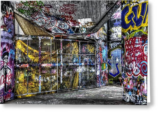 Graffiti Drawings Greeting Cards - Graffiti 02 Greeting Card by Svetlana Sewell
