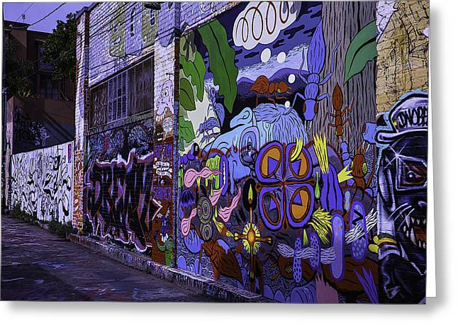 Painted Face Greeting Cards - Graffiti Alley San Francisco Greeting Card by Garry Gay