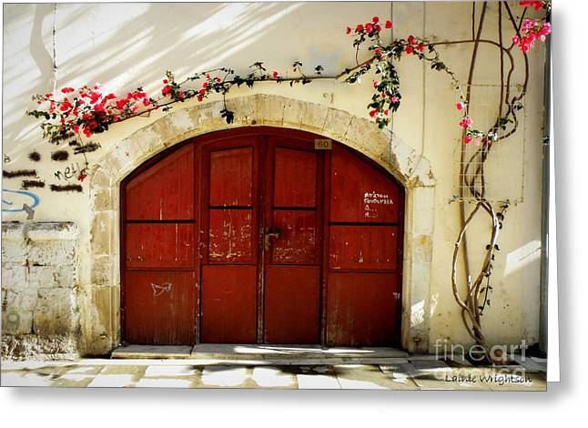 Graffiti And Flowers Greeting Card by Lainie Wrightson