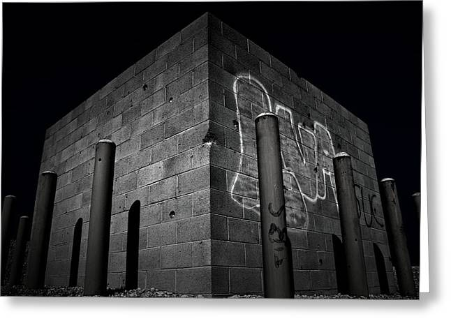 Bullet Holes Greeting Cards - Graffiti And Gunfire Greeting Card by Mark  Ross