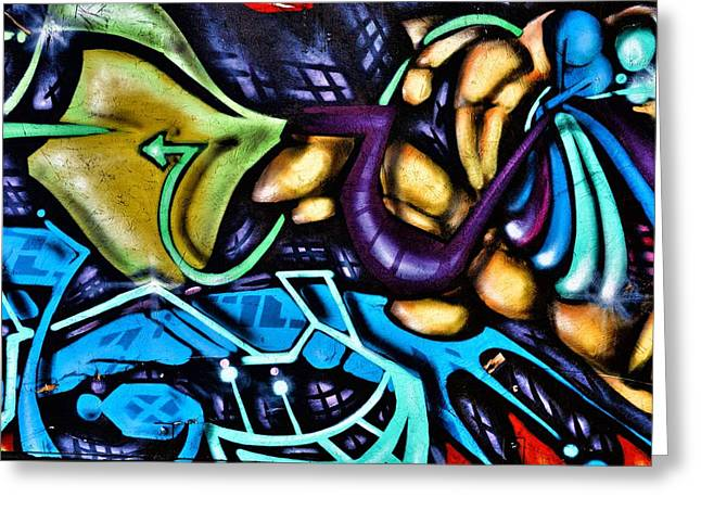 Grafitti Mixed Media Greeting Cards - Graffiti Art 10 Greeting Card by Todd and candice Dailey