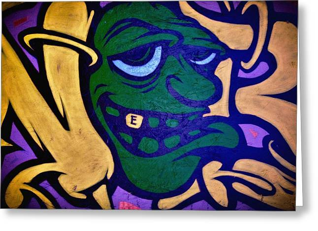 Grafitti Mixed Media Greeting Cards - Graffiti Art 6 Greeting Card by Todd and candice Dailey