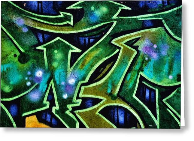 Grafitti Mixed Media Greeting Cards - Graffiti Art 7 Greeting Card by Todd and candice Dailey
