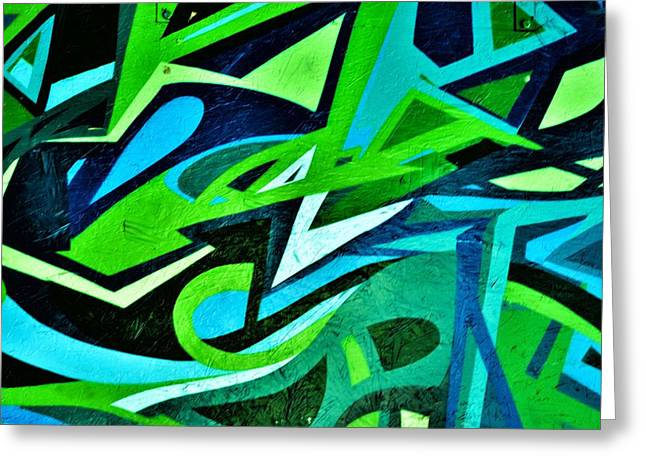 Grafitti Mixed Media Greeting Cards - Graffiti Art 9 Greeting Card by Todd and candice Dailey