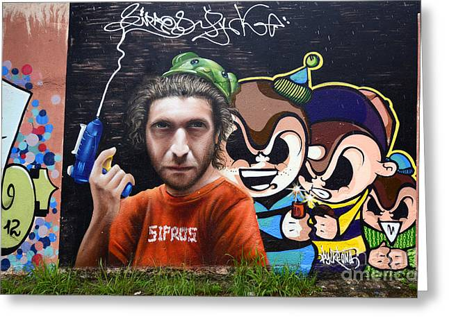 Graffiti Art Curitiba Brazil 12 Greeting Card by Bob Christopher