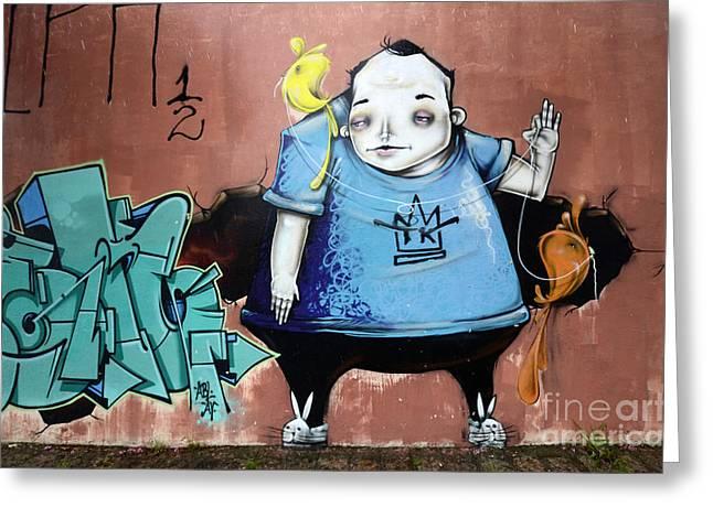 Curitiba Greeting Cards - Graffiti Art Curitiba Brazil 14 Greeting Card by Bob Christopher