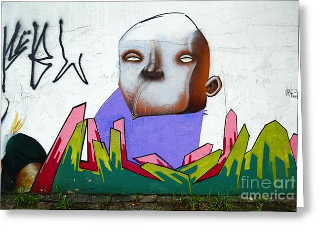 Graffiti Art Curitiba Brazil 17 Greeting Card by Bob Christopher