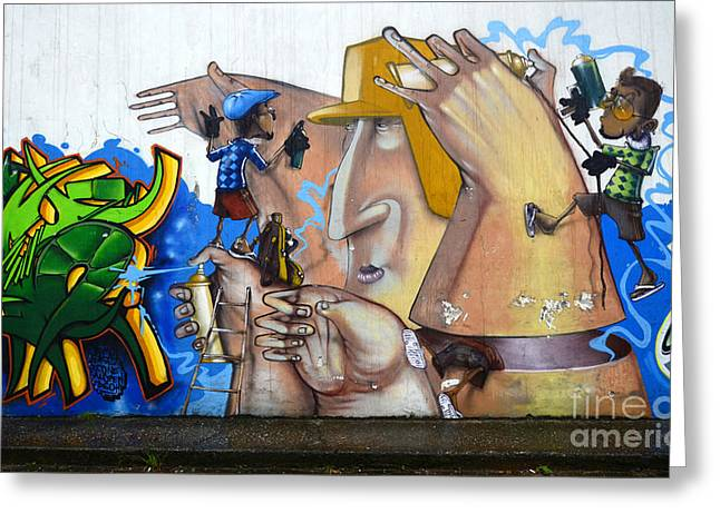 Graffiti Art Curitiba Brazil  19 Greeting Card by Bob Christopher