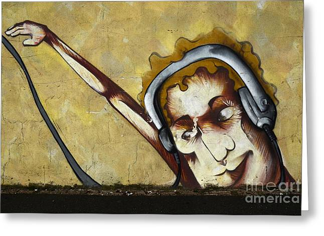 Graffiti Art Curitiba Brazil 5 Greeting Card by Bob Christopher