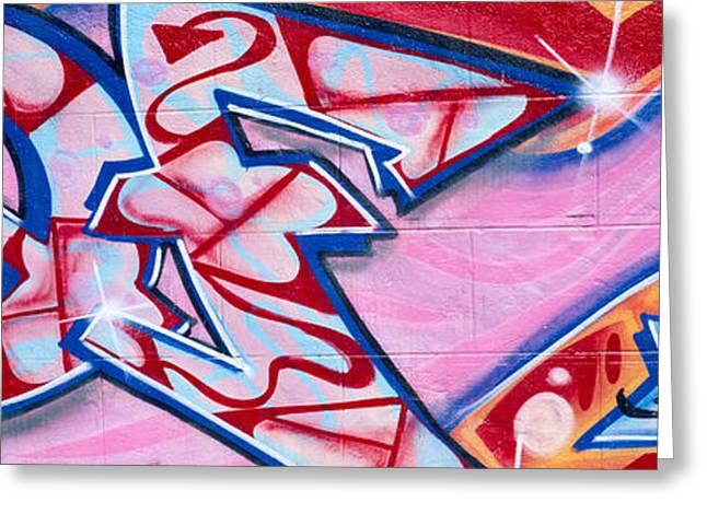Graffiti Art Greeting Cards - Graffiti Art, Los Angeles, California Greeting Card by Panoramic Images
